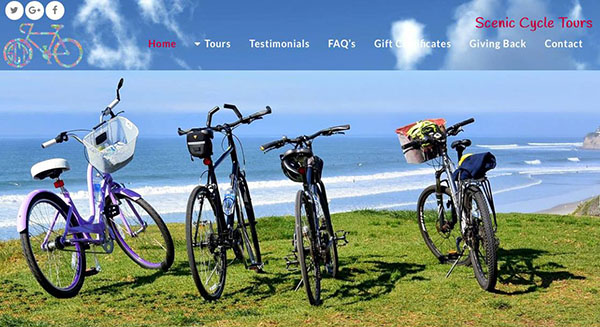 San Diego Scenic Cycle Bike Tours - Wordpress Websites and Training - Sara Ohara
