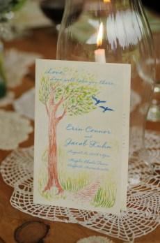 Illustration for Erin & Jacob's Wedding - photo by diasphoto.com