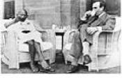 Gandhi ve Lord Mountbatten Çay İçerken