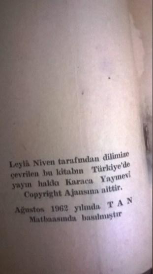 Türkçedeki ilk Lolita baskısı (Çev. Leyla Niven).