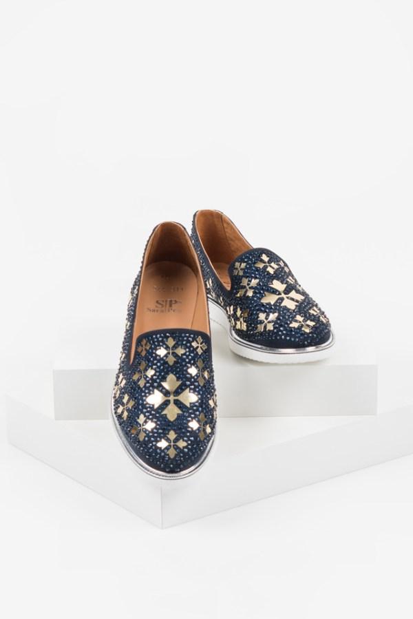 Ежедневни дамски обувки в син цвят-140544