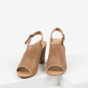 Дамски сандали в кяфяв цвят-038140