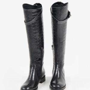 Ежединевни дамски ботуши в черен цвят-241228-LCR