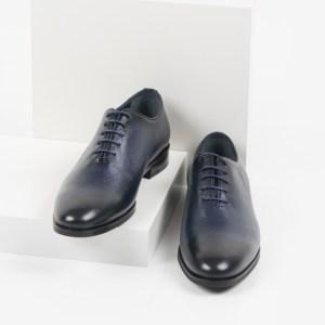 Кожени мъжки обувки в син цвят-2862830