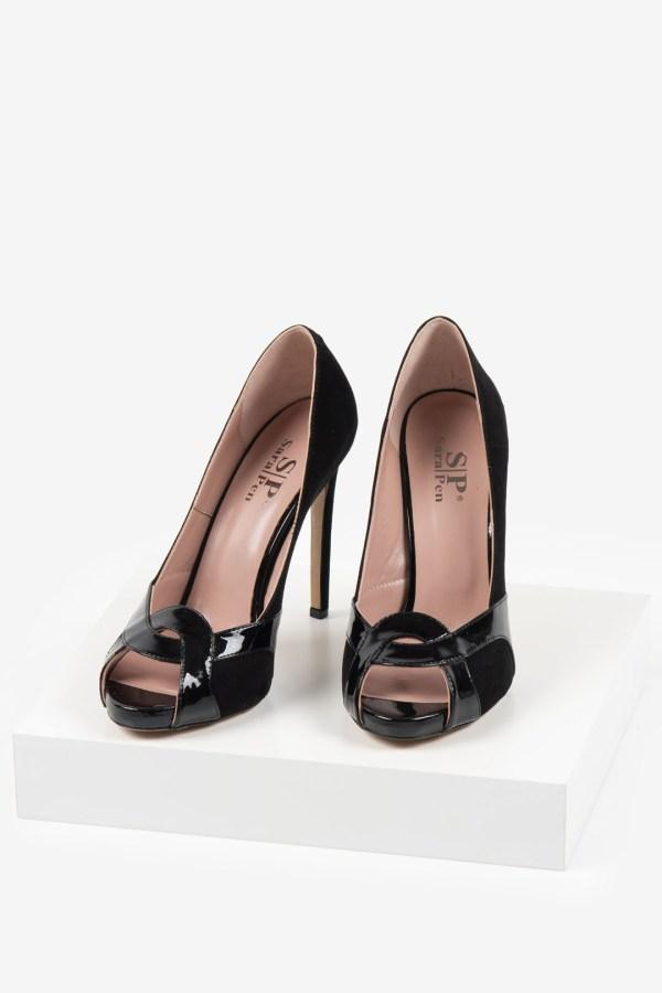 Елегантни дамски обувки в черен цвят-483076