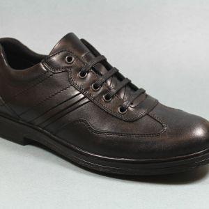 Удобни мъжки обувки в черен цвят-0415130