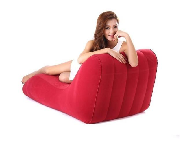 S-shaped Inflatable Sofa โซฟา โซฟาปรับนอน โซฟา โซฟาเบด โซฟาพับ SOFA BED