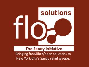FLO Solutions for Disaster Relief Presentation