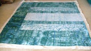 sara quail silk shibori quilt