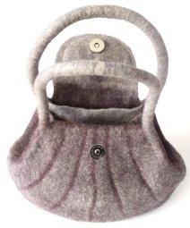 felt bag with handles