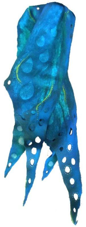 Blu Nuno felt scarf