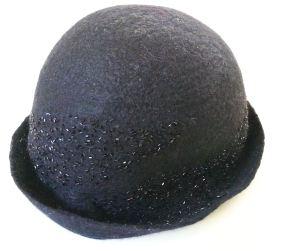 black short brim hat