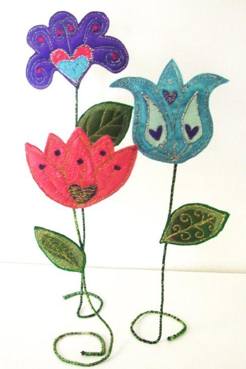 contemporary textile floweres