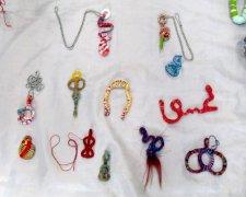 armatures as textile pendants