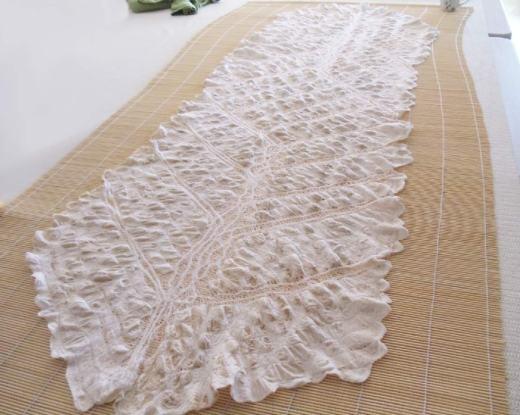 Wrap before ironing