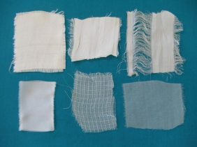 Variations in sari silk ribbons