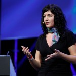Sara Rosso presenting at LeWeb