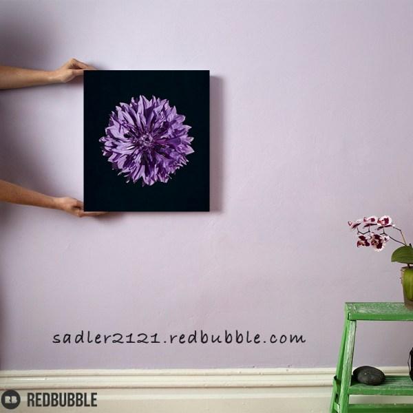 Purple Cornflower Canvas wall art