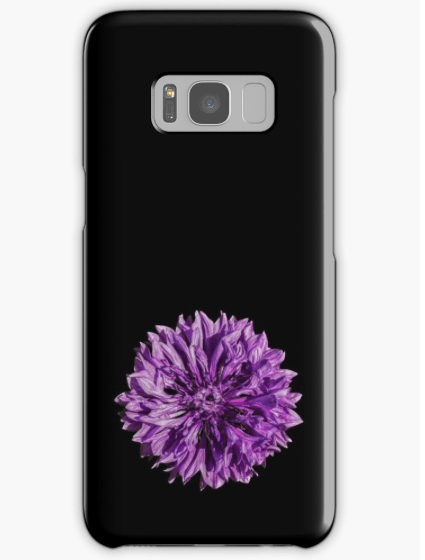 purple cornflower Samsung Galaxy phone case