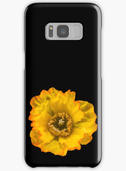 Yellow Poppy Samsung Galaxy phone case