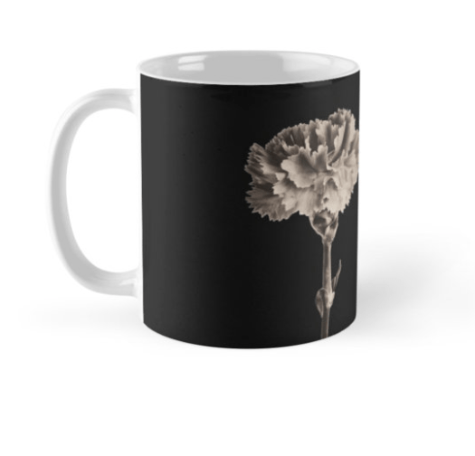 sepia carnation mugs