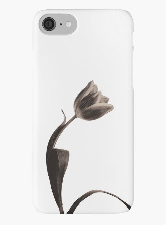 Sepia tulip Iphone case