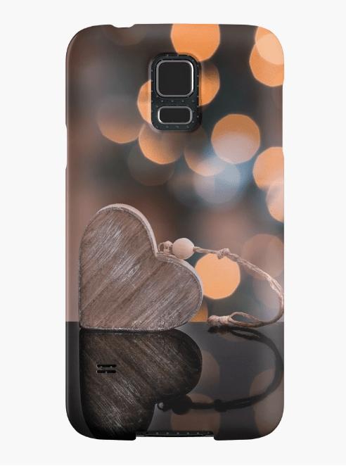 love heart Samsung Galaxy phone case