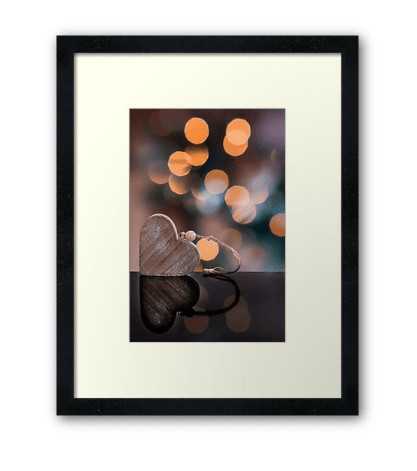 love heart photographic print
