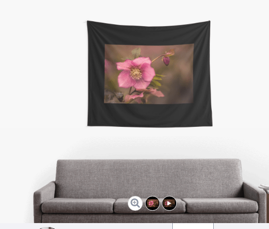 Christmas Rose wall tapestries