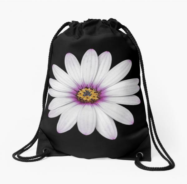 African Daisy drawstring bag
