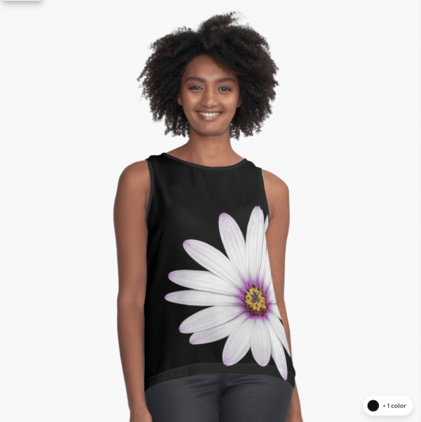 African Daisy sleeveless top