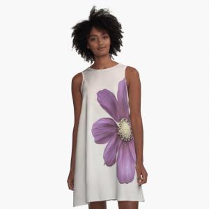cosmos flower a-line dress