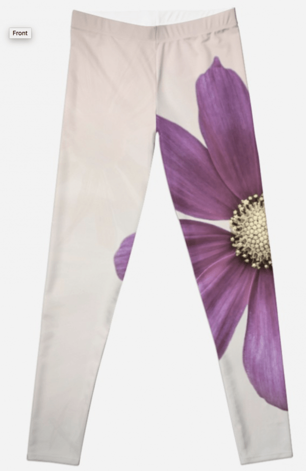 cosmos flower leggings