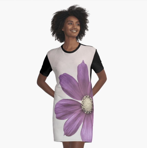 Cosmos flower dress (T-shirt style)