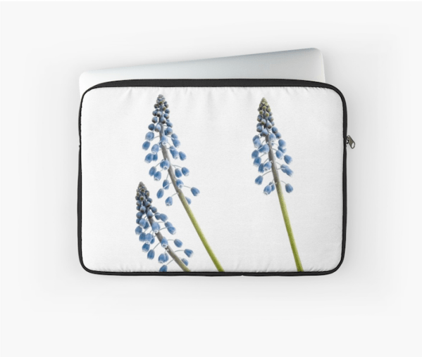 Grape Hyacinth Flower laptop sleeve