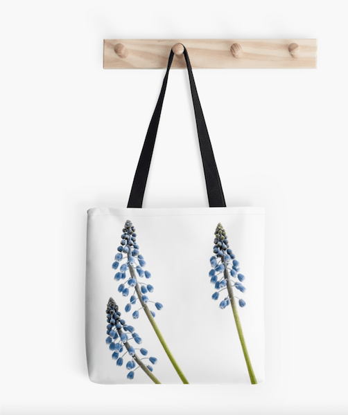 grape hyacinth flower tote bag