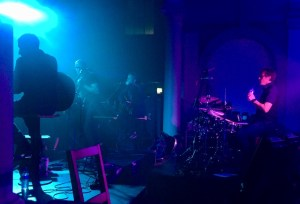 Ride playing on stage in Worthing