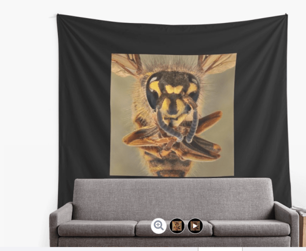 Bee wall tapestry