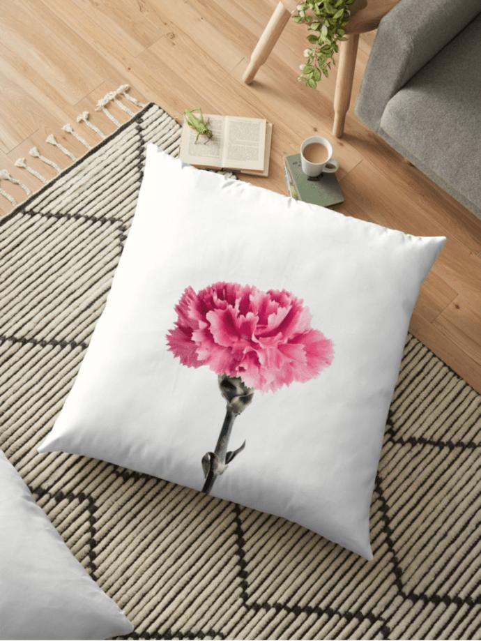 Carnation flower Cushions - floor