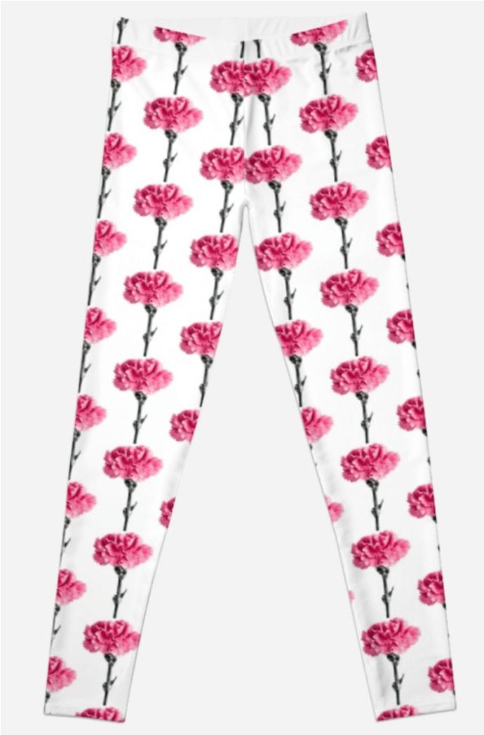 Carnation Flower Leggings