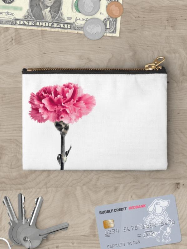 Carnation Flower Studio Pouch