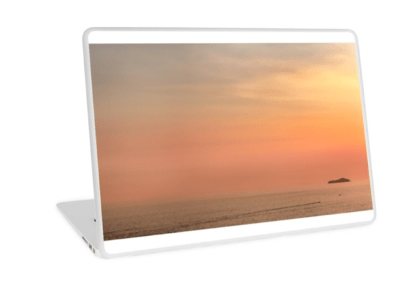 Dubrovnik sunset laptop skins