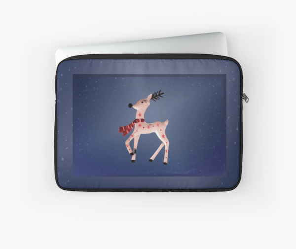 Christmas Reindeer laptop sleeve