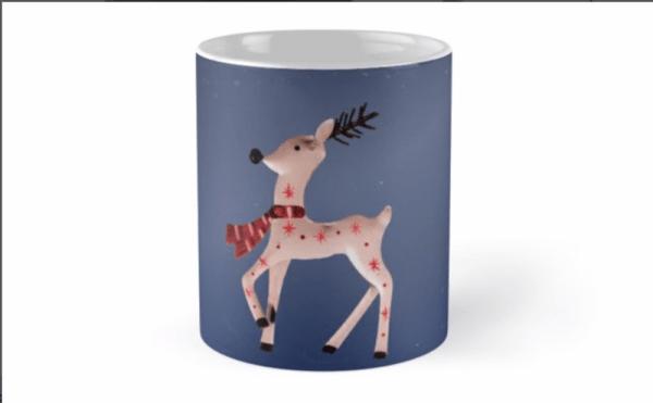 christmas reindeer mugs