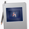 Christmas Reindeer stickers - medium