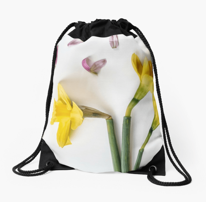 Spring flower photography daffodil tote bag