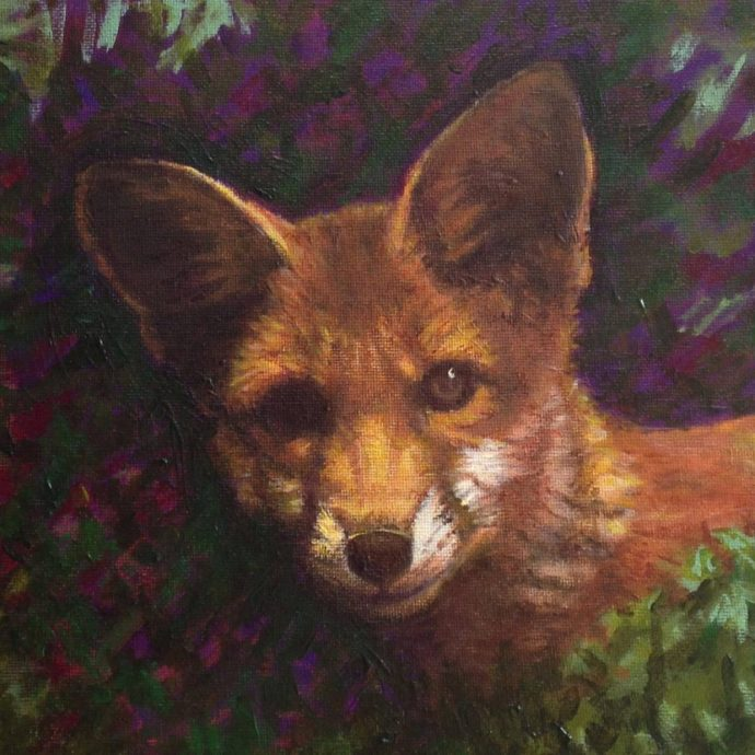 Beautiful Fox by Muloani Art