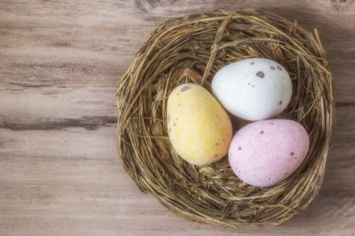 Easter themed painterly photograph