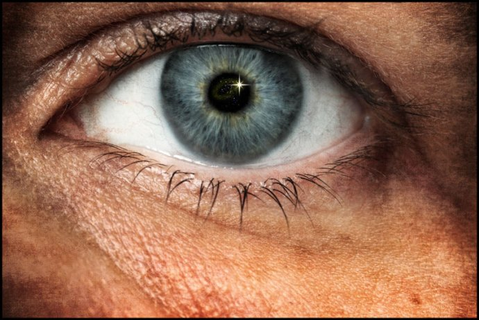 Spirituality represented in a fine art eye image