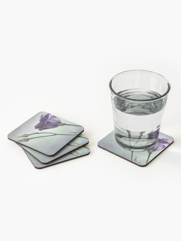 purple flower fine art coasters